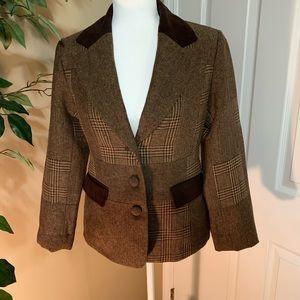 Espirit wool blazer with elbow patch size Small